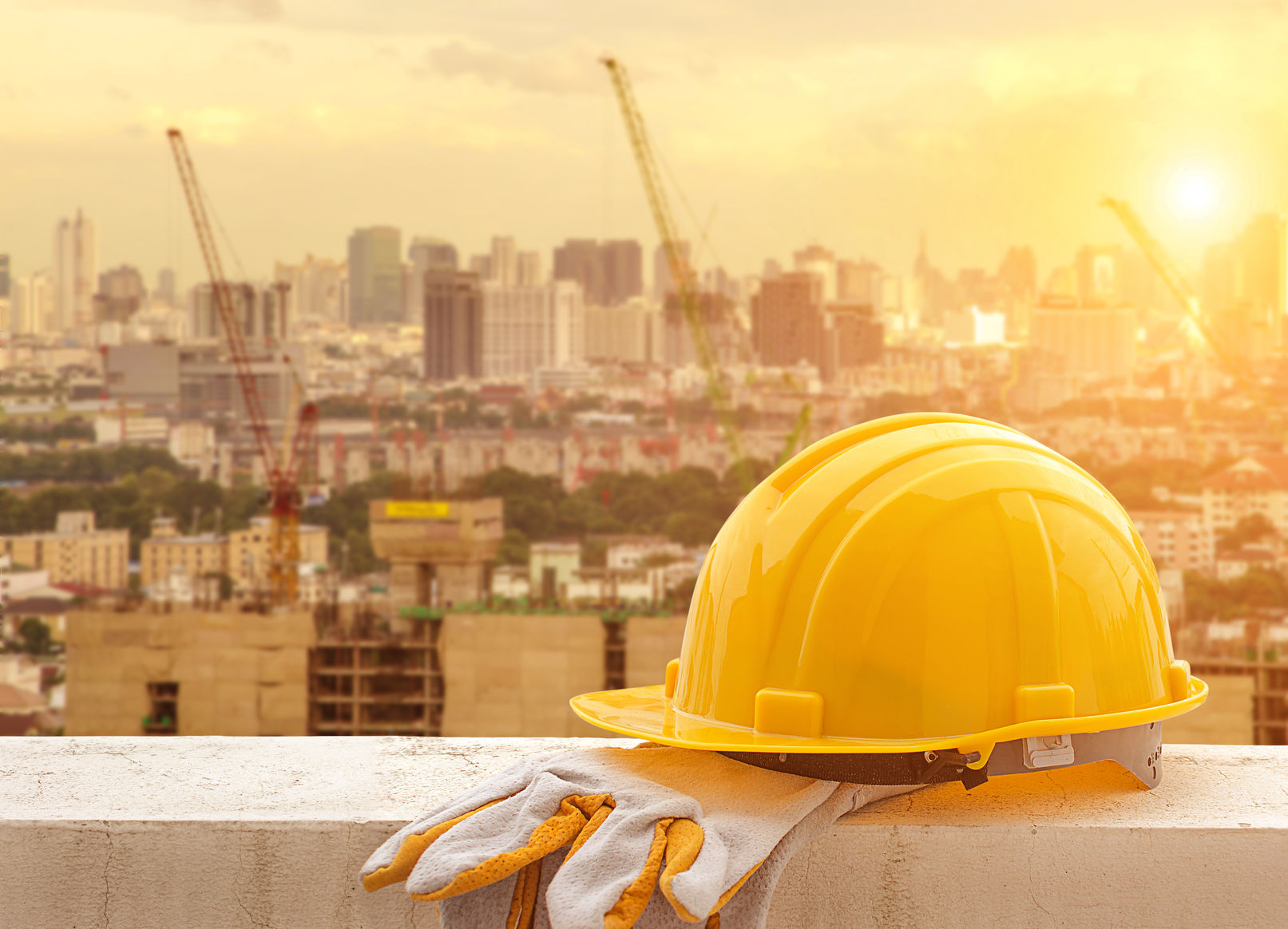 50498731 - yellow hard hat on construction site