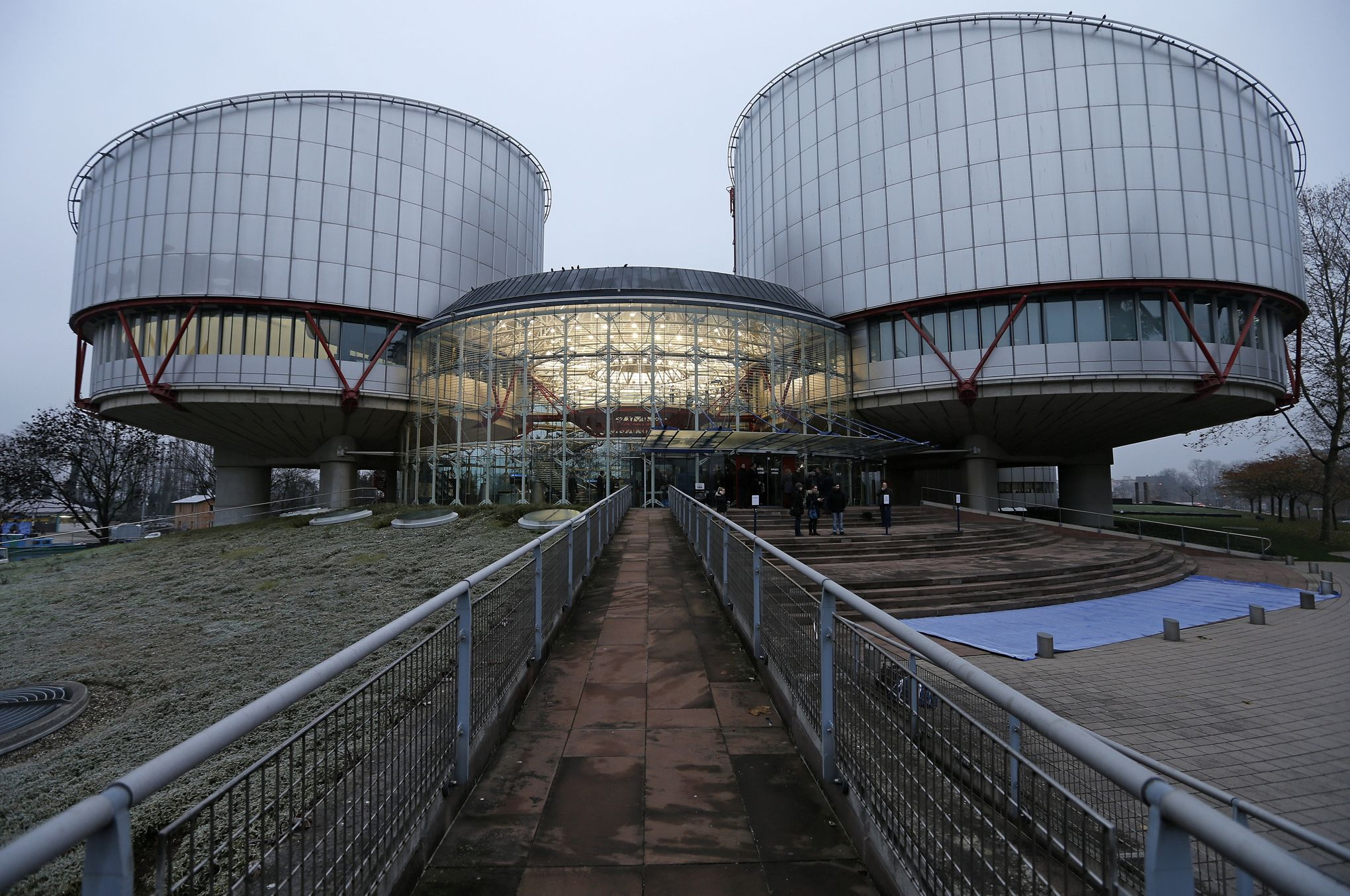 General view of the European Court of Human Rights building in Strasbourg