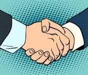Handshake business deal contract
